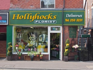 Hollyhocks Florist.  Sheffield S8