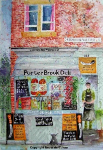 Porter Brook Deli Watercolour