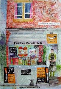 Porter Brook Deli Watercolour