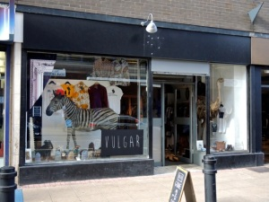 Vulgar pop up shop, Sheffield S1