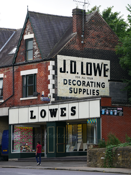 1. Lowes 624 Abbeydale Road Sheffield S7 2BA ©shopfrontsofsheffield 2017 | P1030238 S SFoS